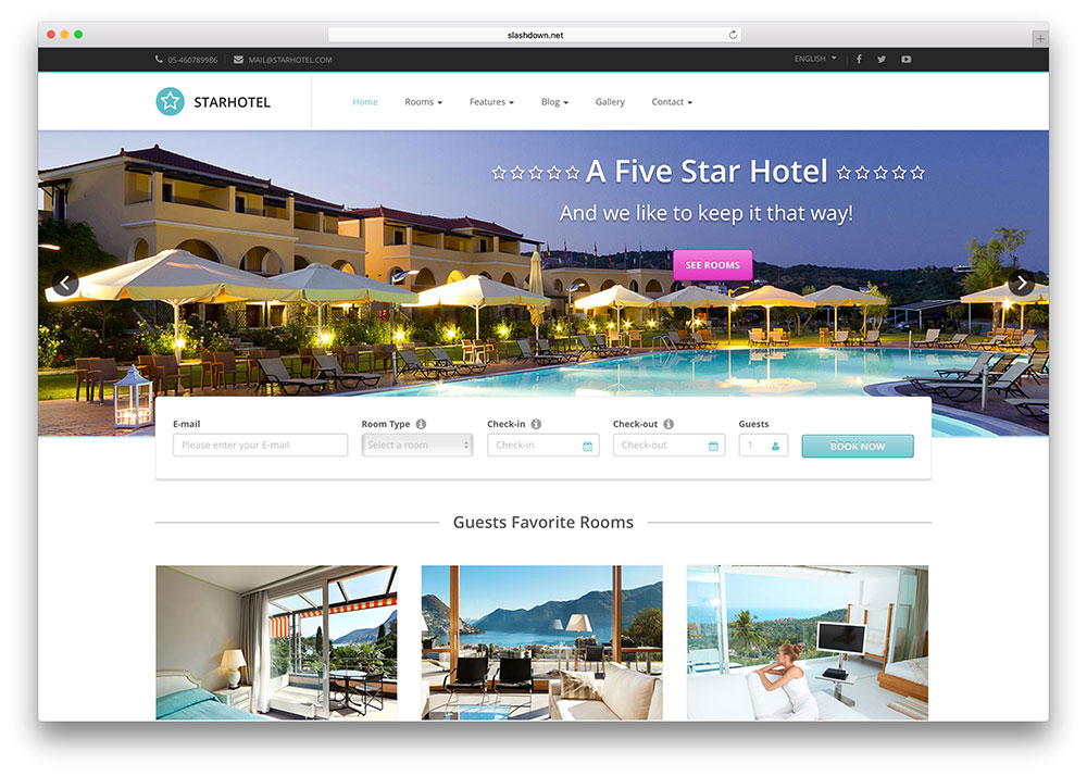 Starhotel Creative Hotel Booking Website Template