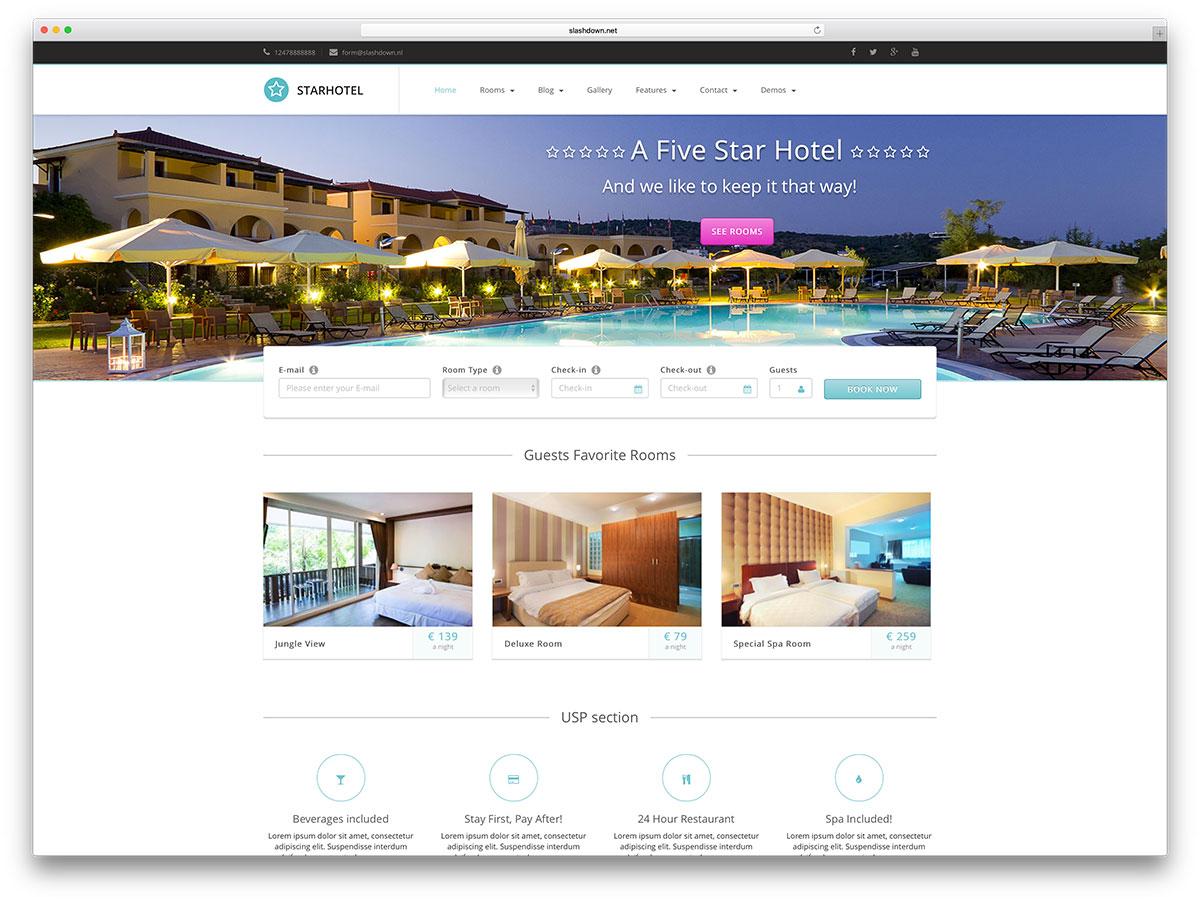 starhotel-light-wordpress-hotel-website-template