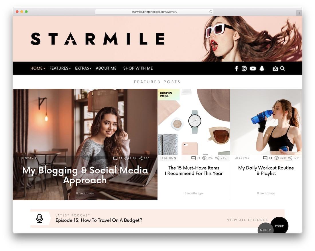 starmile affiliate wordpress theme