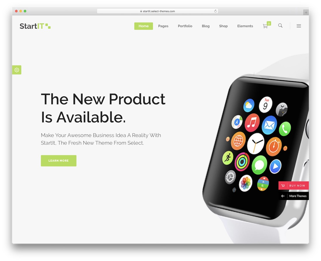startit landing page wordpress theme
