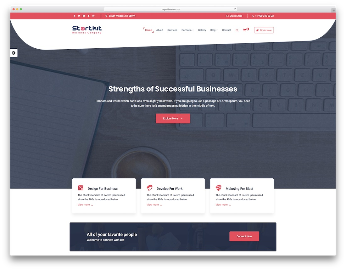 startkit professional website template