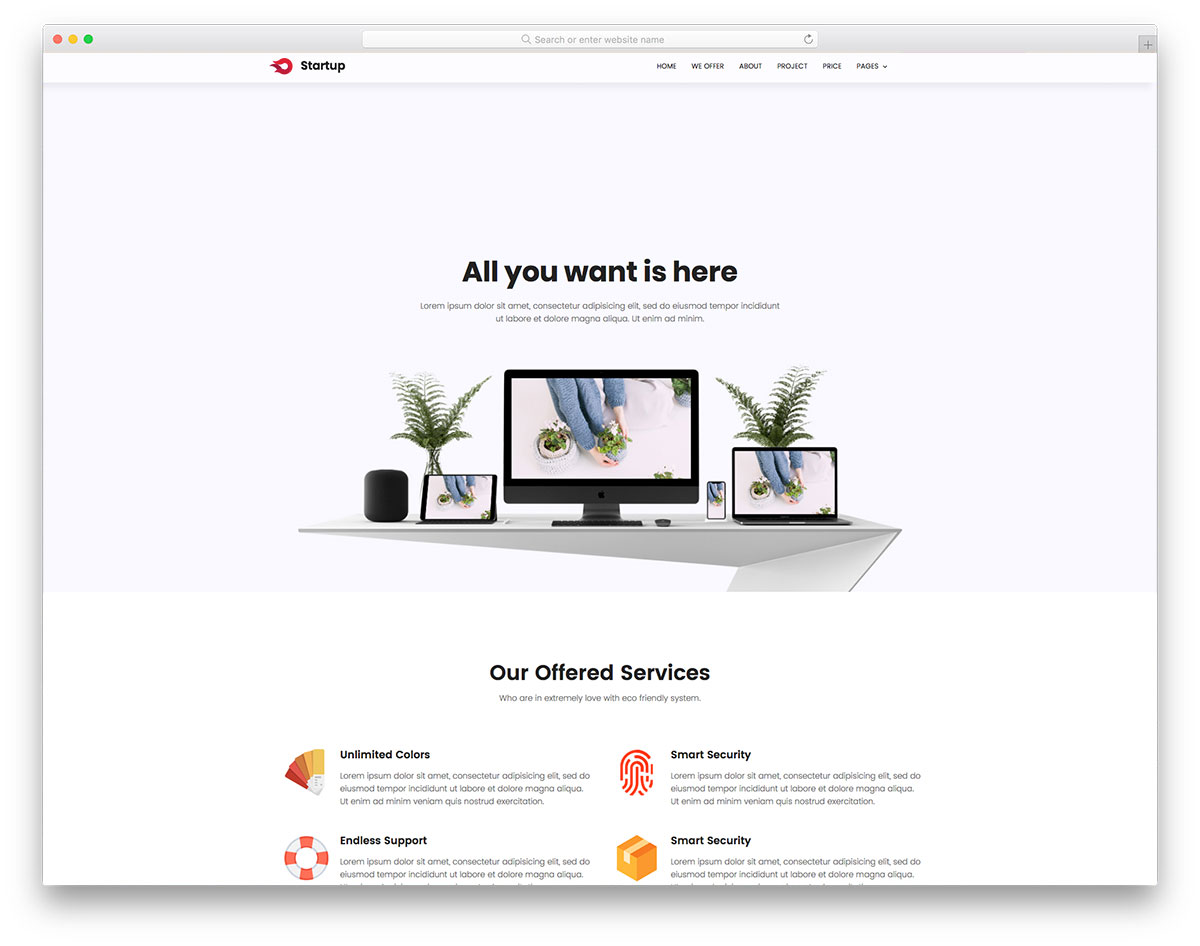 67 free simple website templates for clean sites using html  u0026 css 2019
