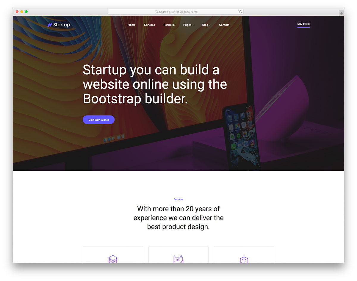 Startup2 Free Template