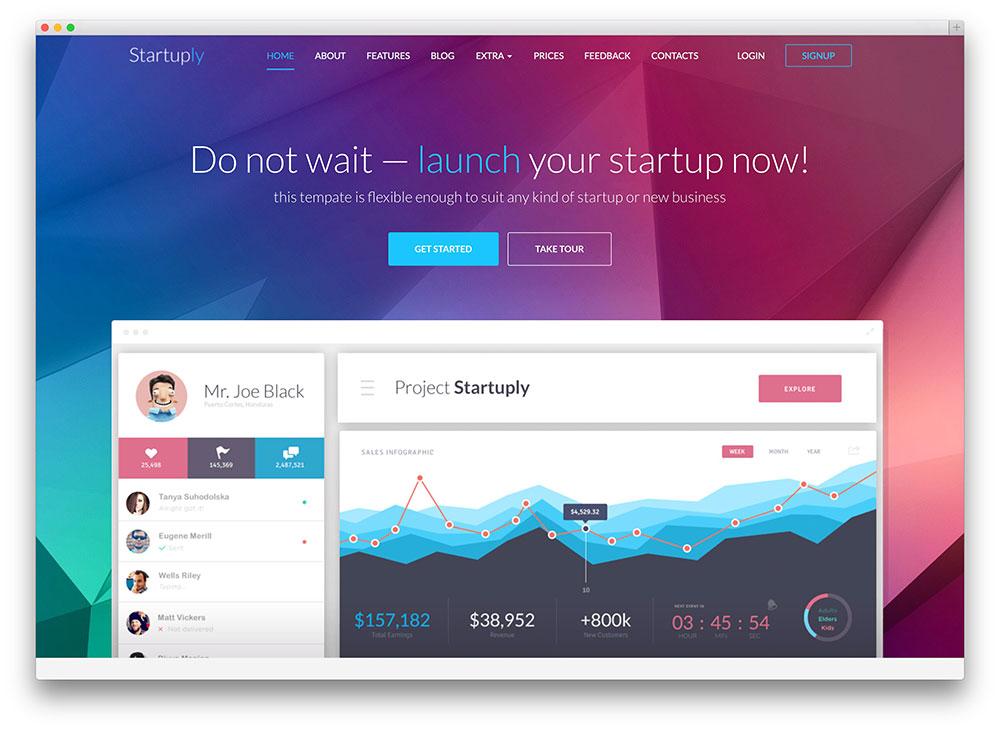 startuply - tech startup wordpress theme
