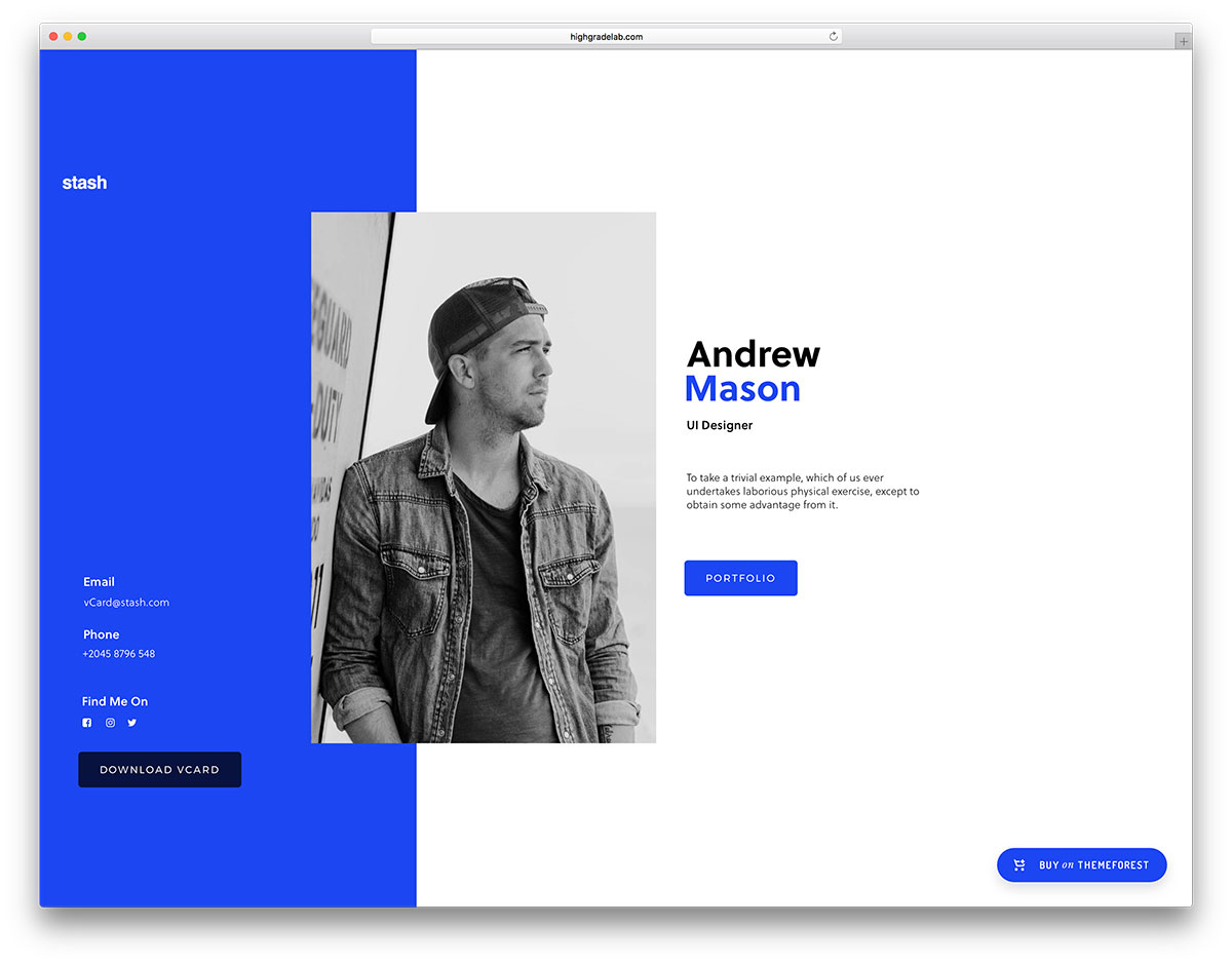 stash is a fun creative versatile wordpress theme it is a tool meant for diversity customizations and visual appeal it is meant to offer every possible - Resume Web Template