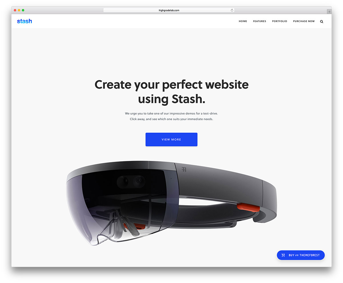 stash tech products landing page template - Top 20 New Premium WordPress Themes October 2018 – Get The Latest and Greatest Themes