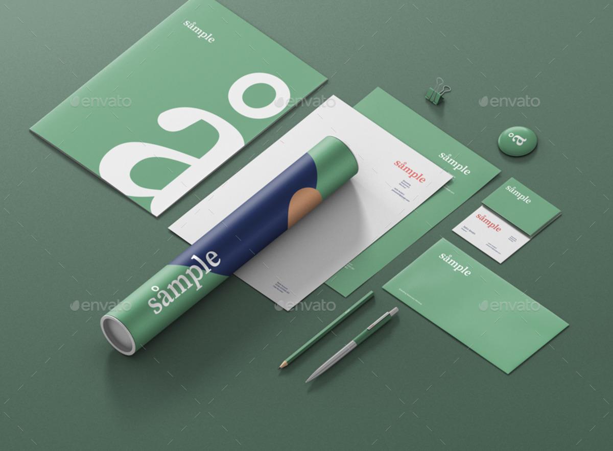 Stationery Branding PSD Mockup Creator