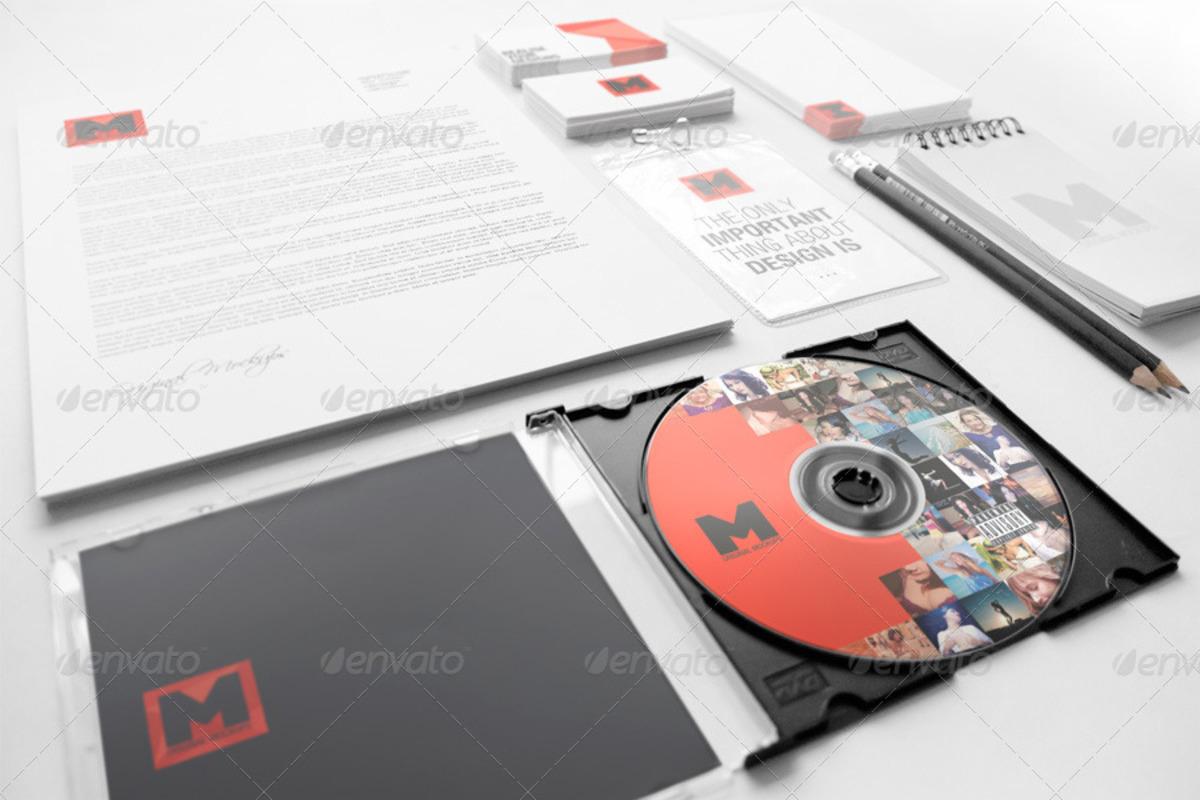Stationery Branding PSD Mockups Complete Set