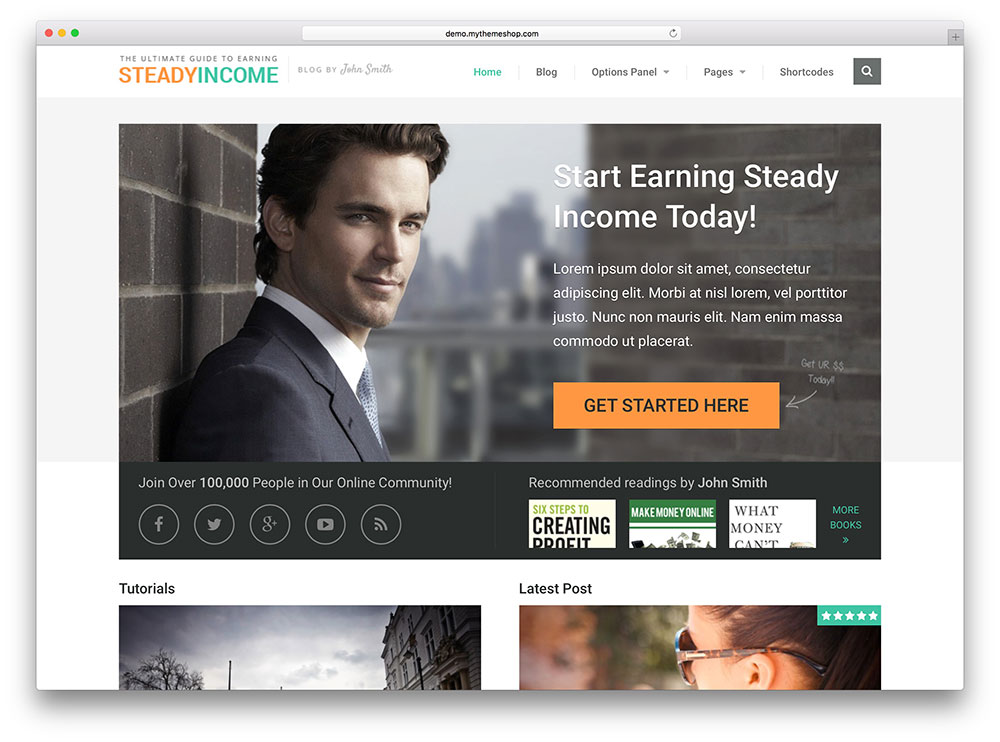steadyincome - online business theme