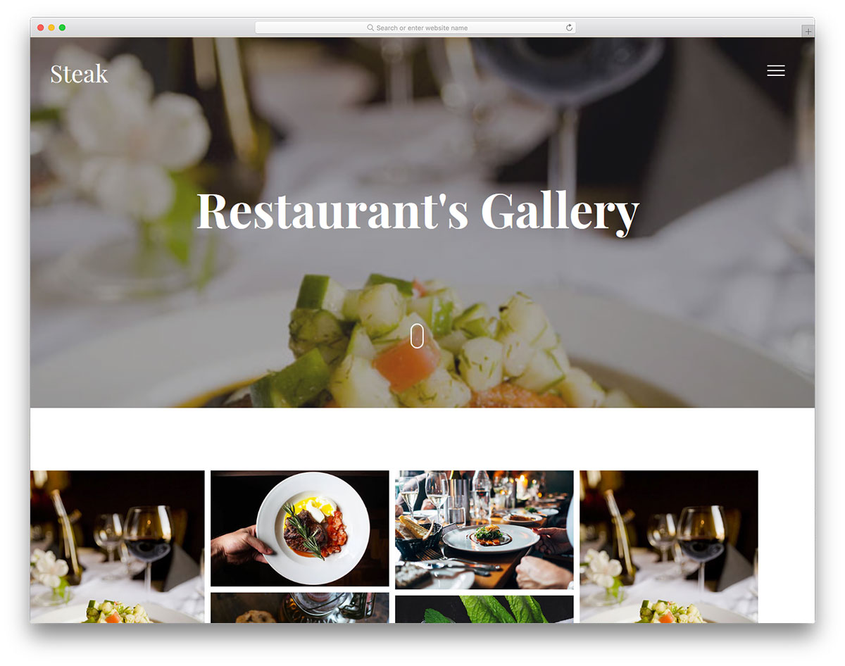 Скачать бесплатно html шаблон Steak