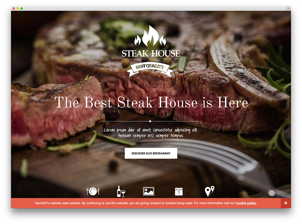 steak house - fullscreen wordpress theme