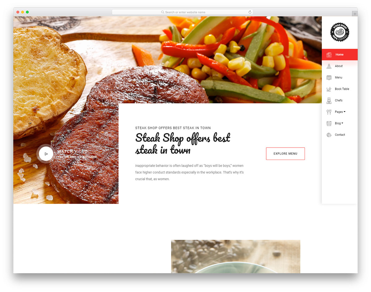 steakshop free template
