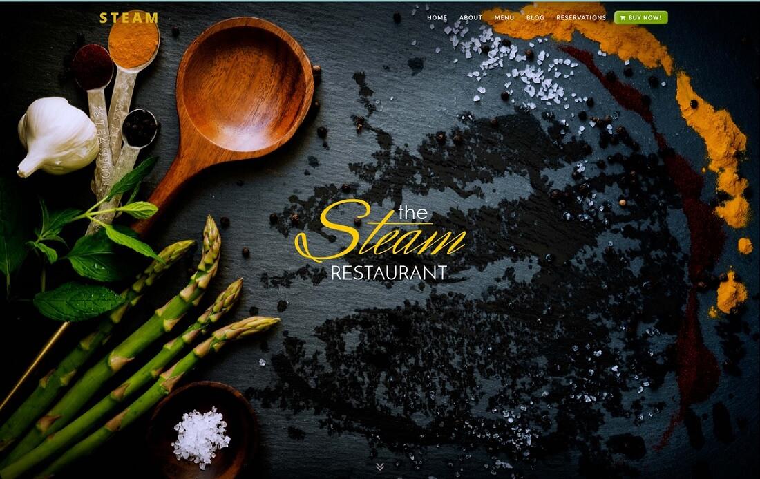 steam catering wordpress theme