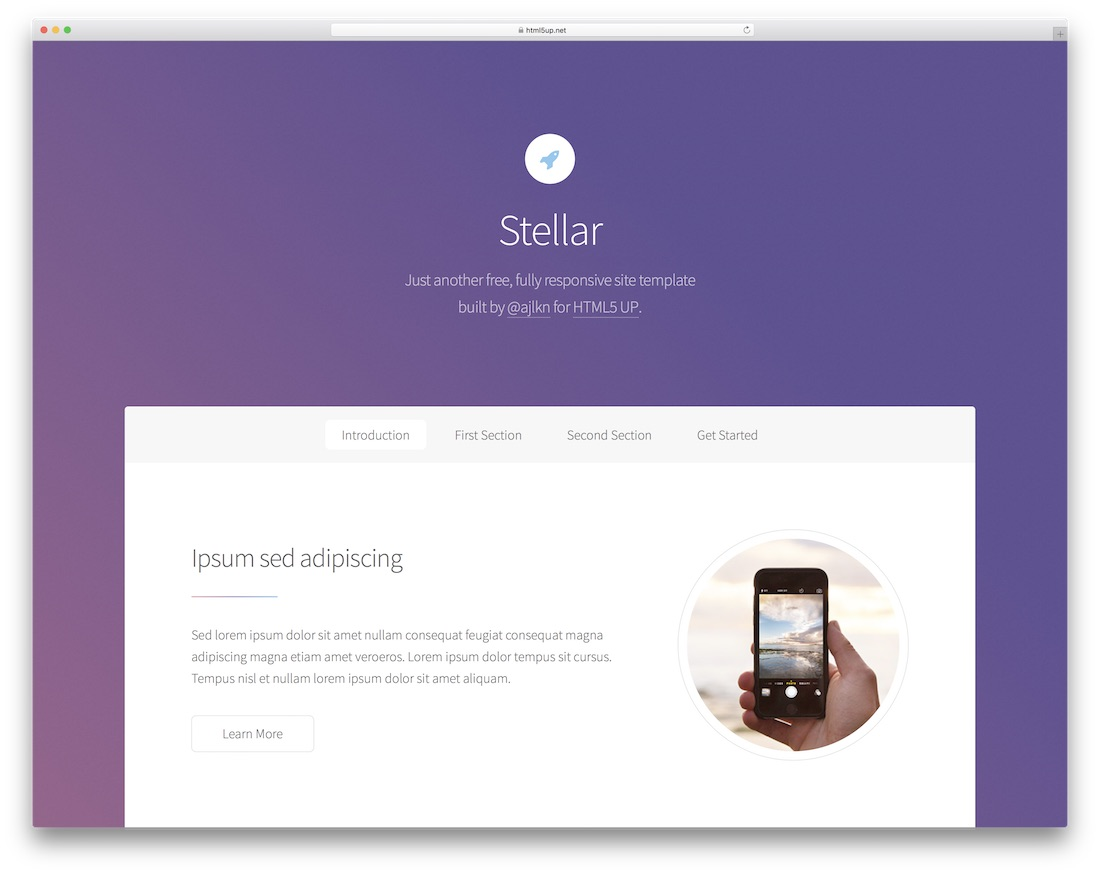 43 free responsive html5 business templates for startups 2018 colorlib stellar free business website template flashek Image collections