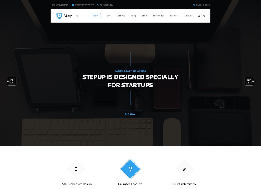 stepup website mockup