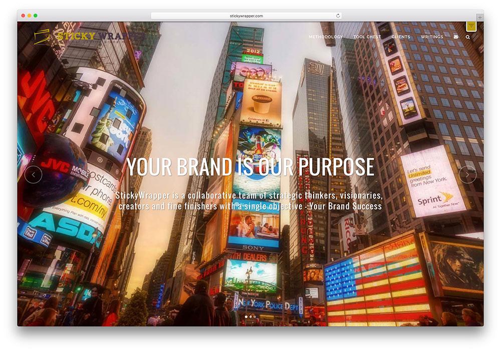 stickywrapper-brand-agency-wordpress-site-example