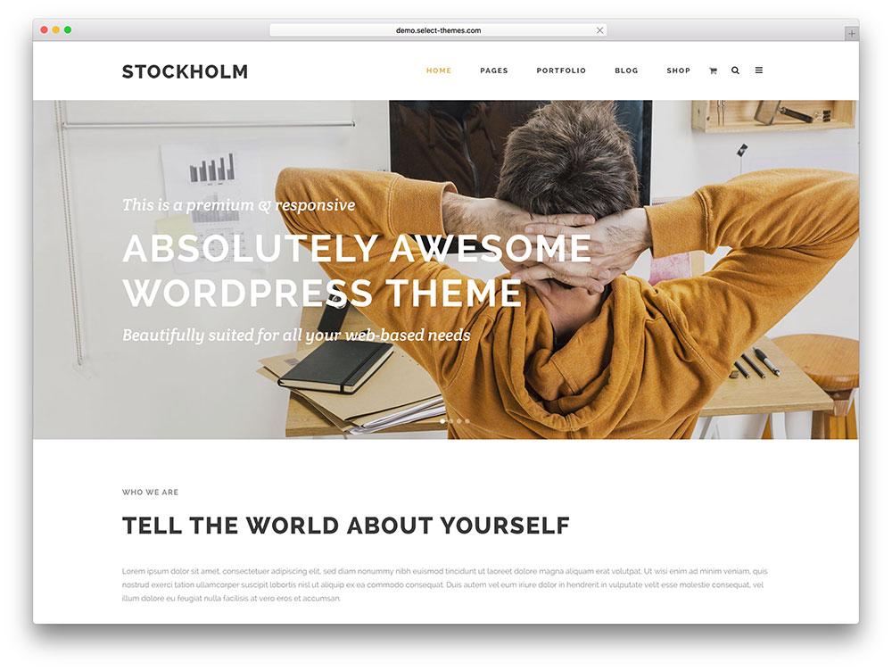stockholm - minimal local business theme