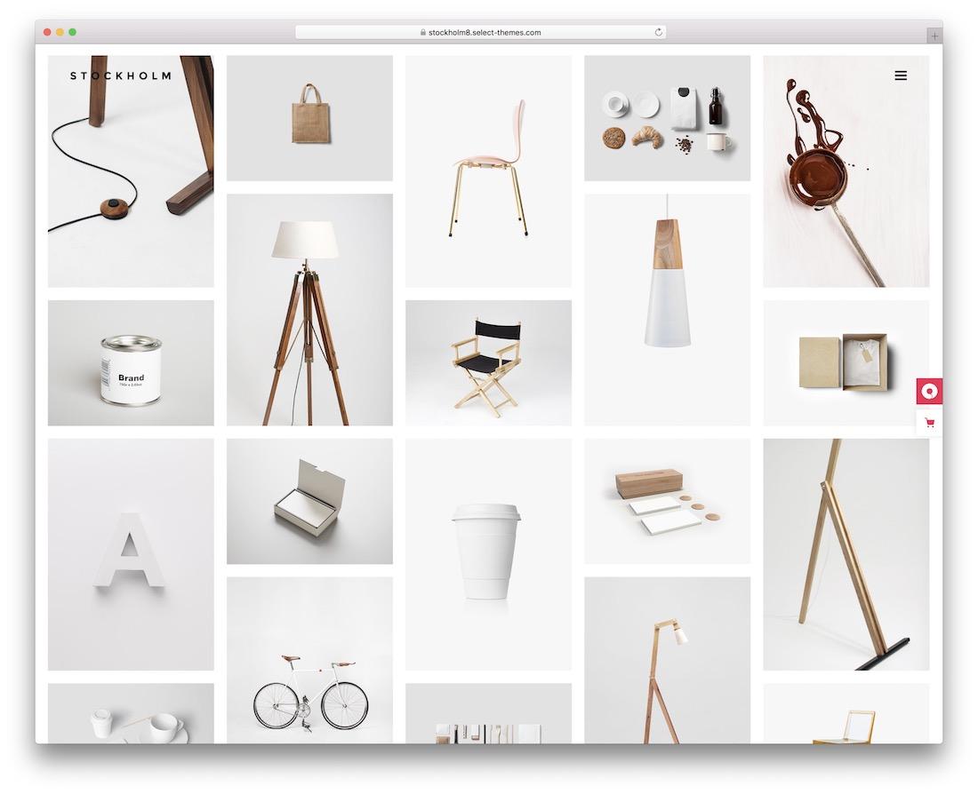 stockholm masonry grid wordpress theme