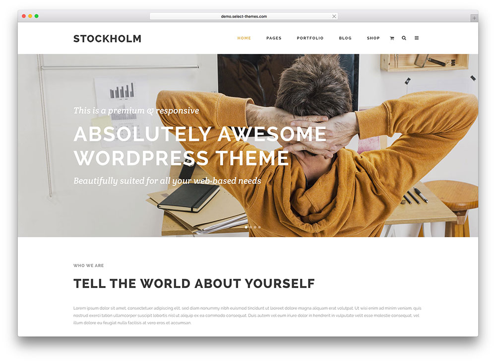 stockholm - simple multipurpose theme