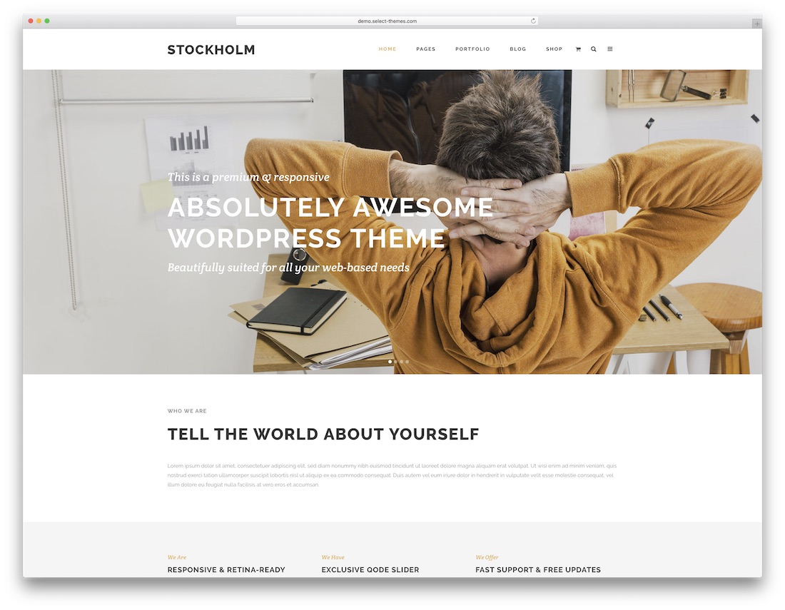 stockholm popular wordpress theme