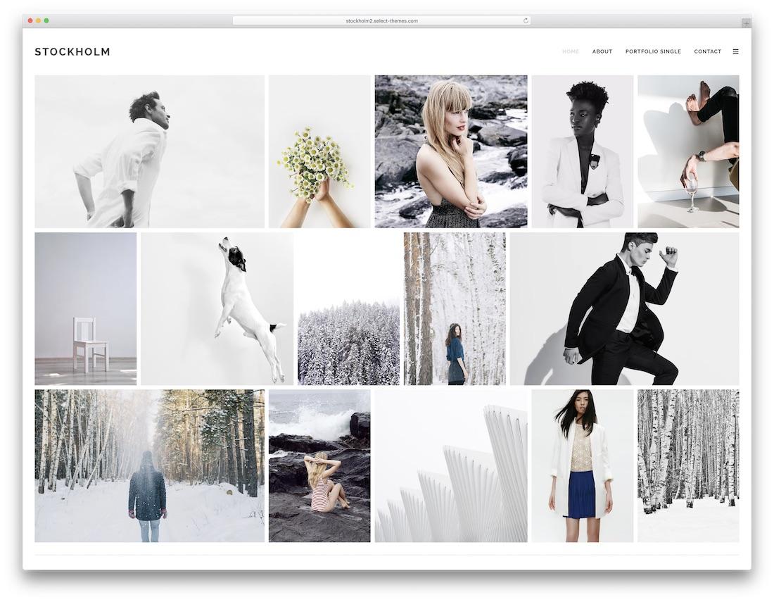 stockholm portfolio wordpress theme