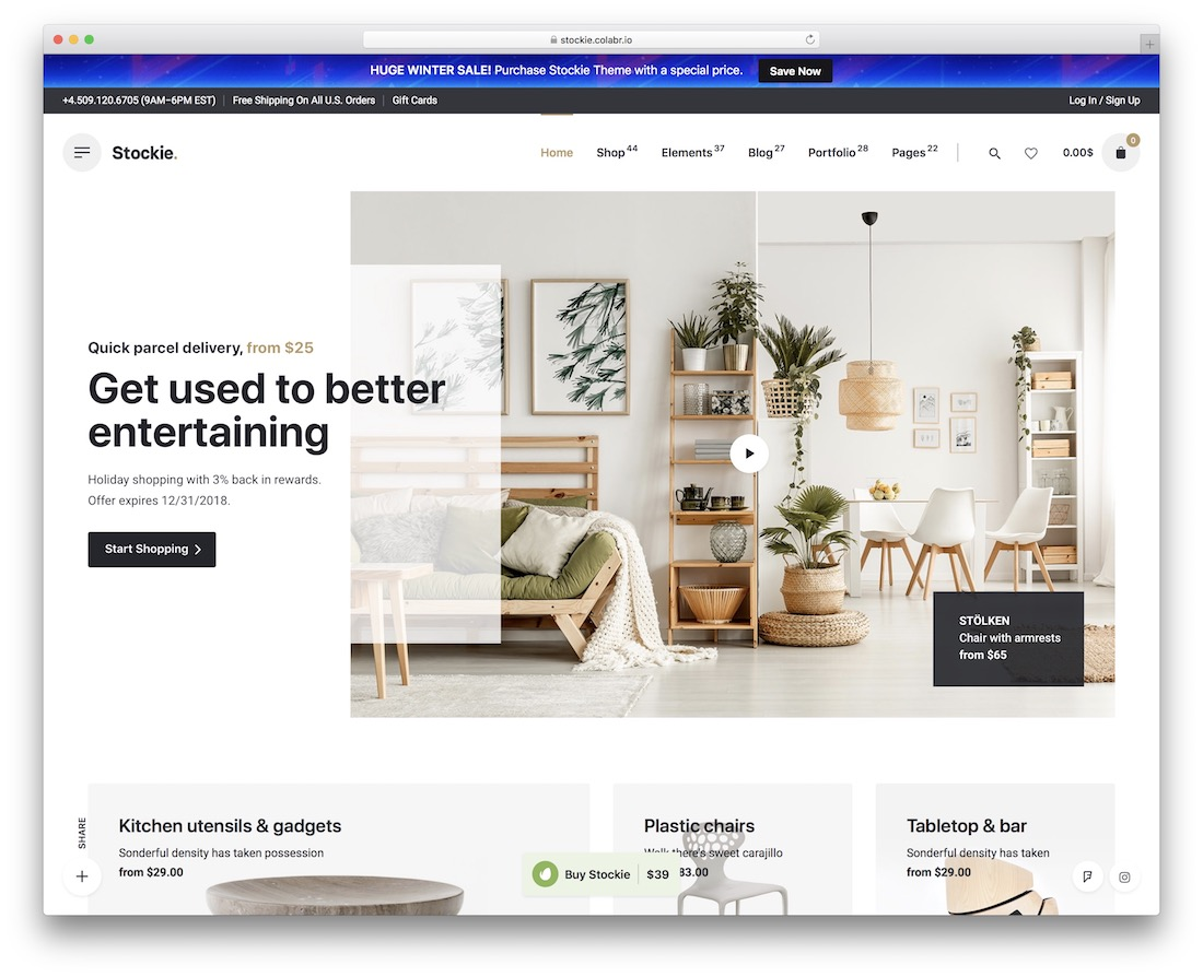 stockie ajax woocommerce theme