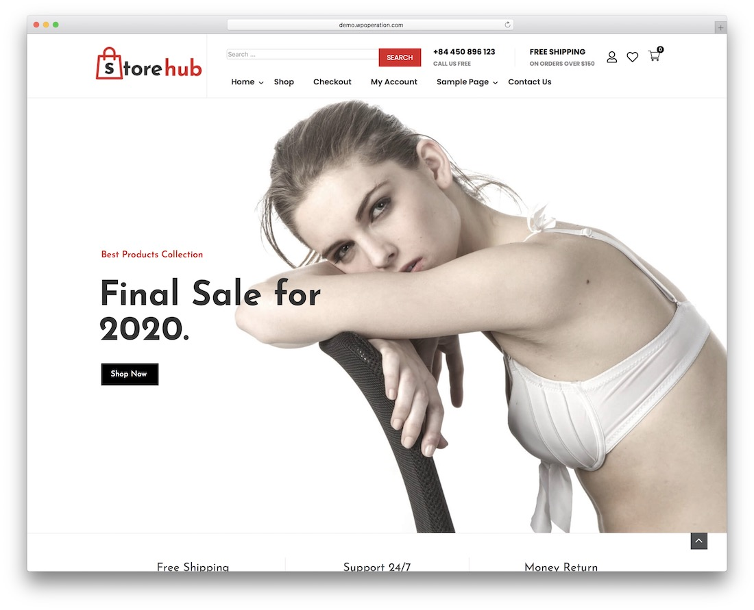 store hub free wordpress theme