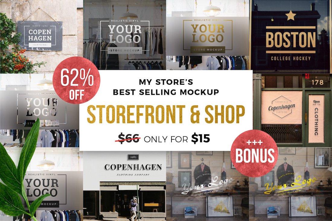 storefront shop mockup bundle