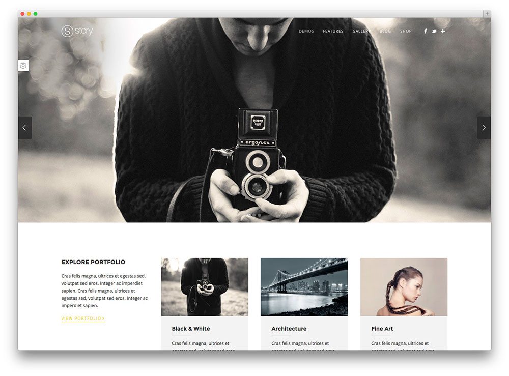 story - creative WordPress theme