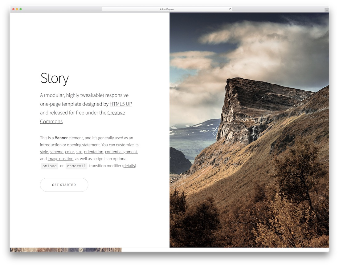 story free html5 website template