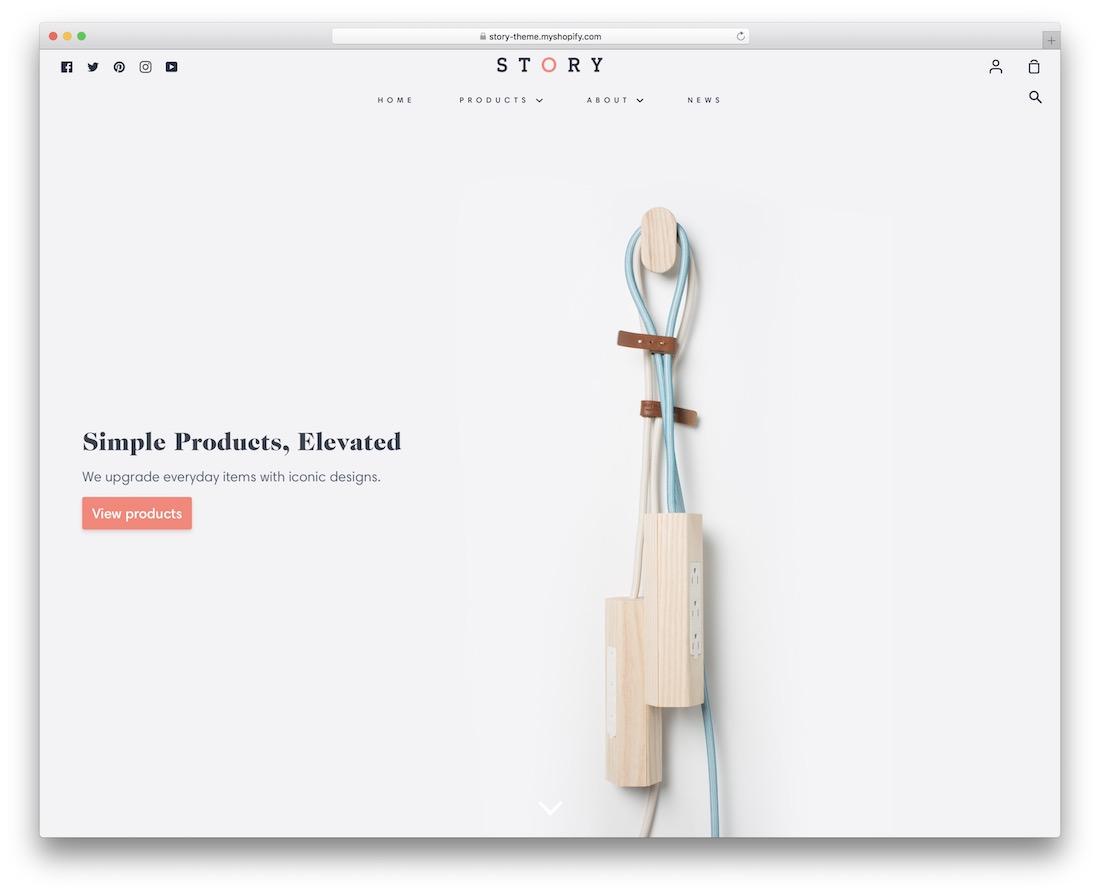 story minimal shopify theme