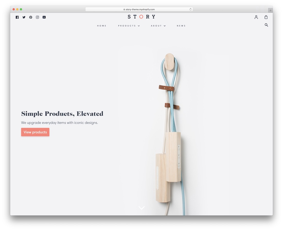 story simple shopify theme