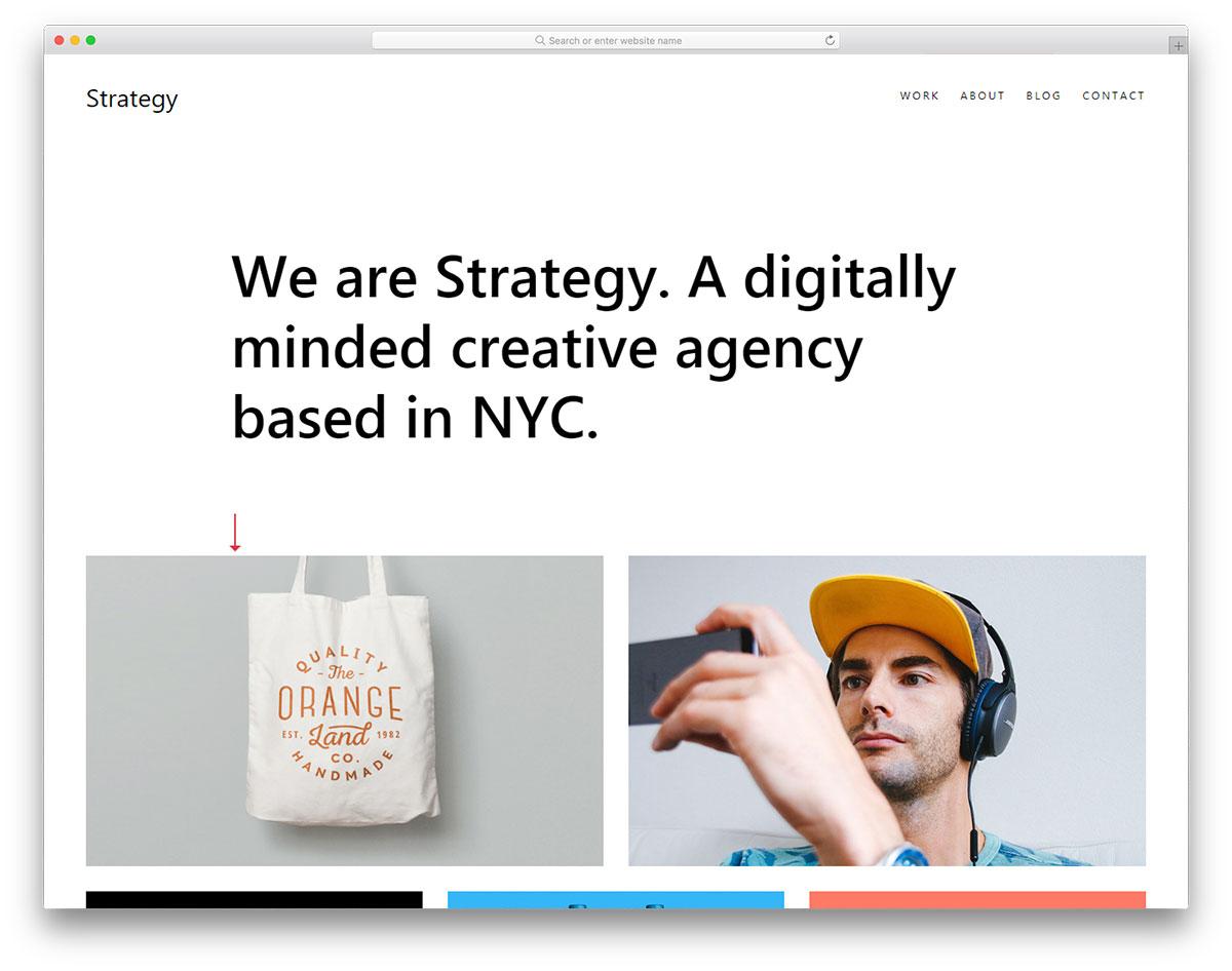 Скачать бесплатно html шаблон Strategy