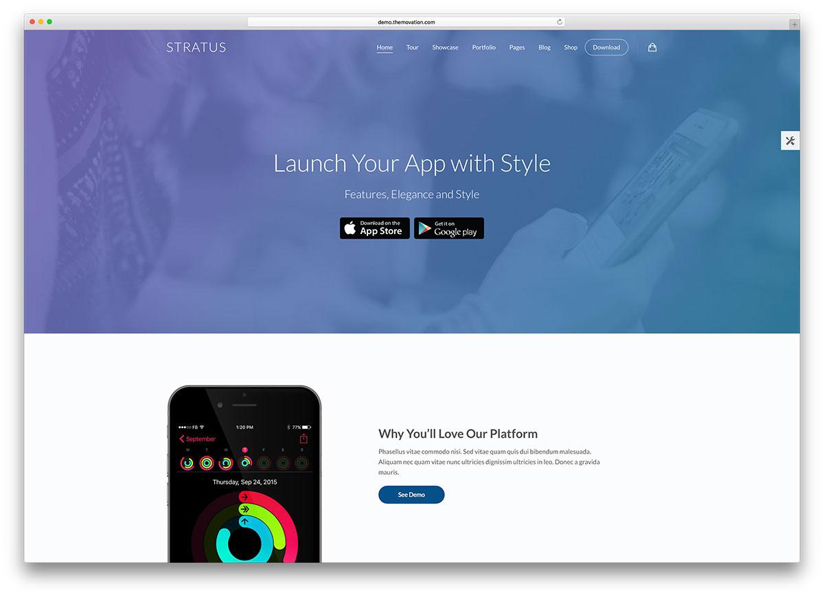 stratus-app-landing-page-wp-theme