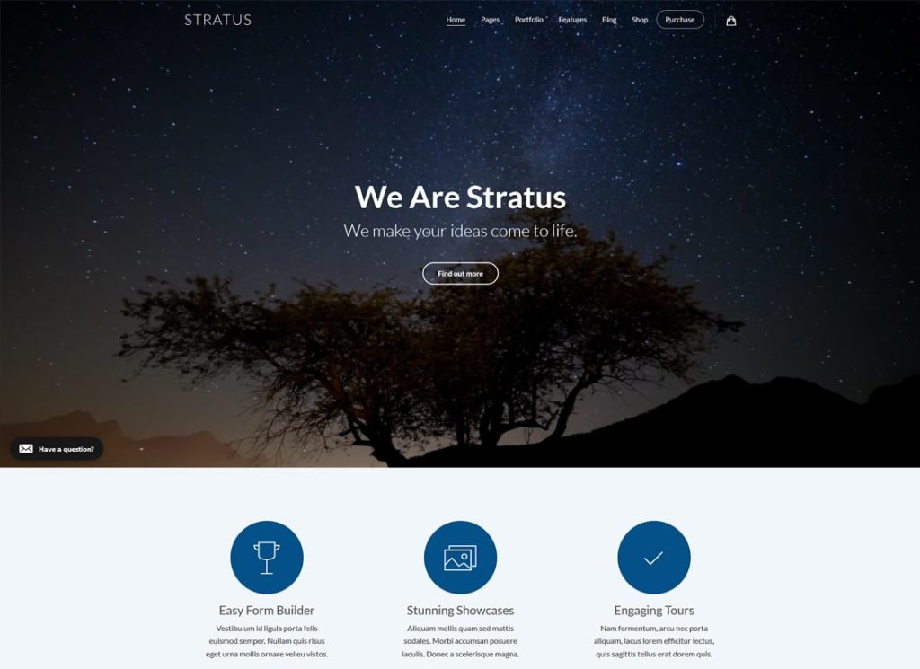 Stratus| App, SaaS & Software Startup Tech WordPress Theme