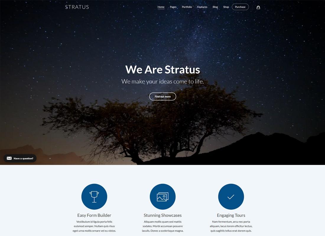 Stratus | App, SaaS & Software Startup Tech WordPress Theme