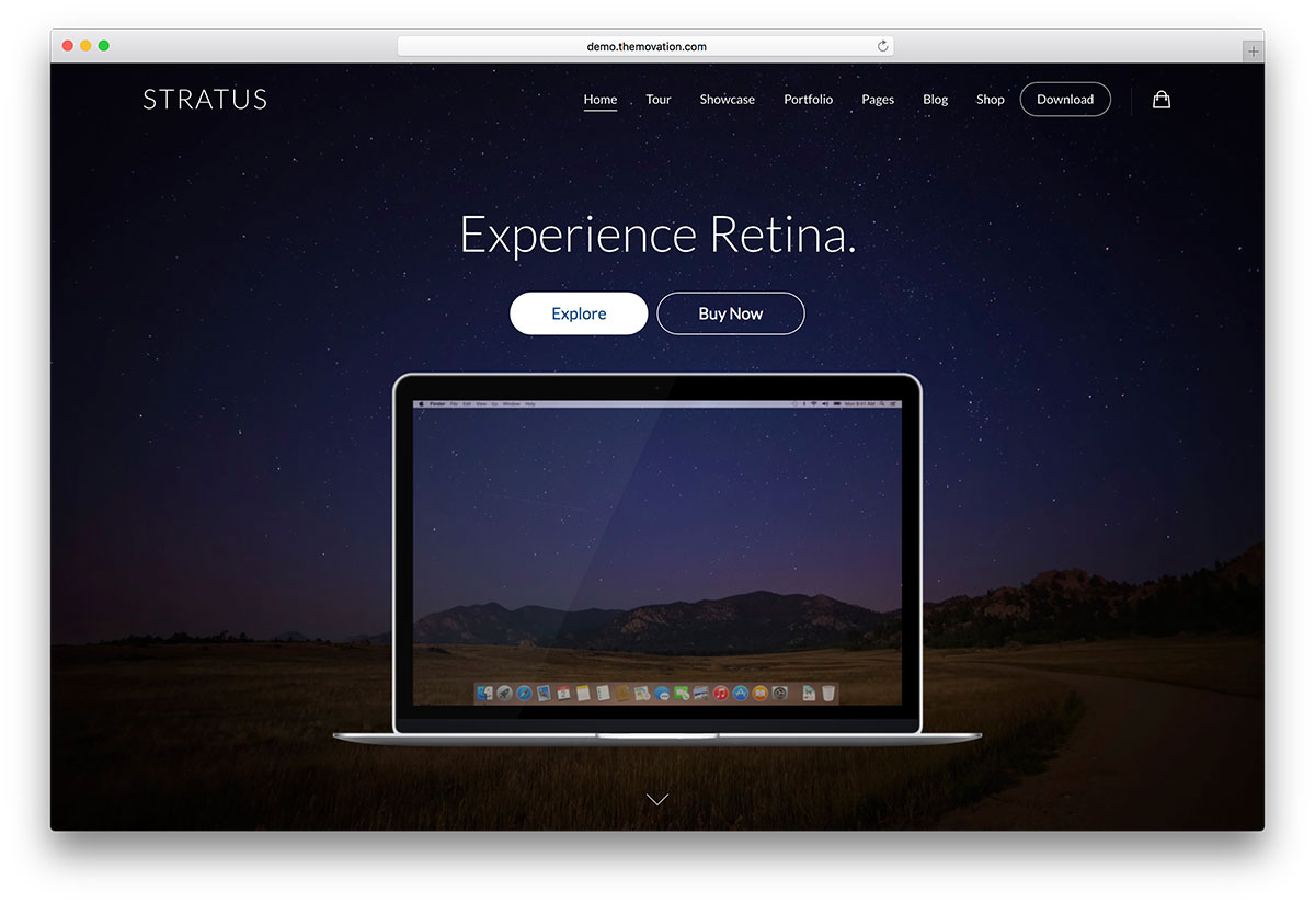 stratus - app showcase WordPress theme