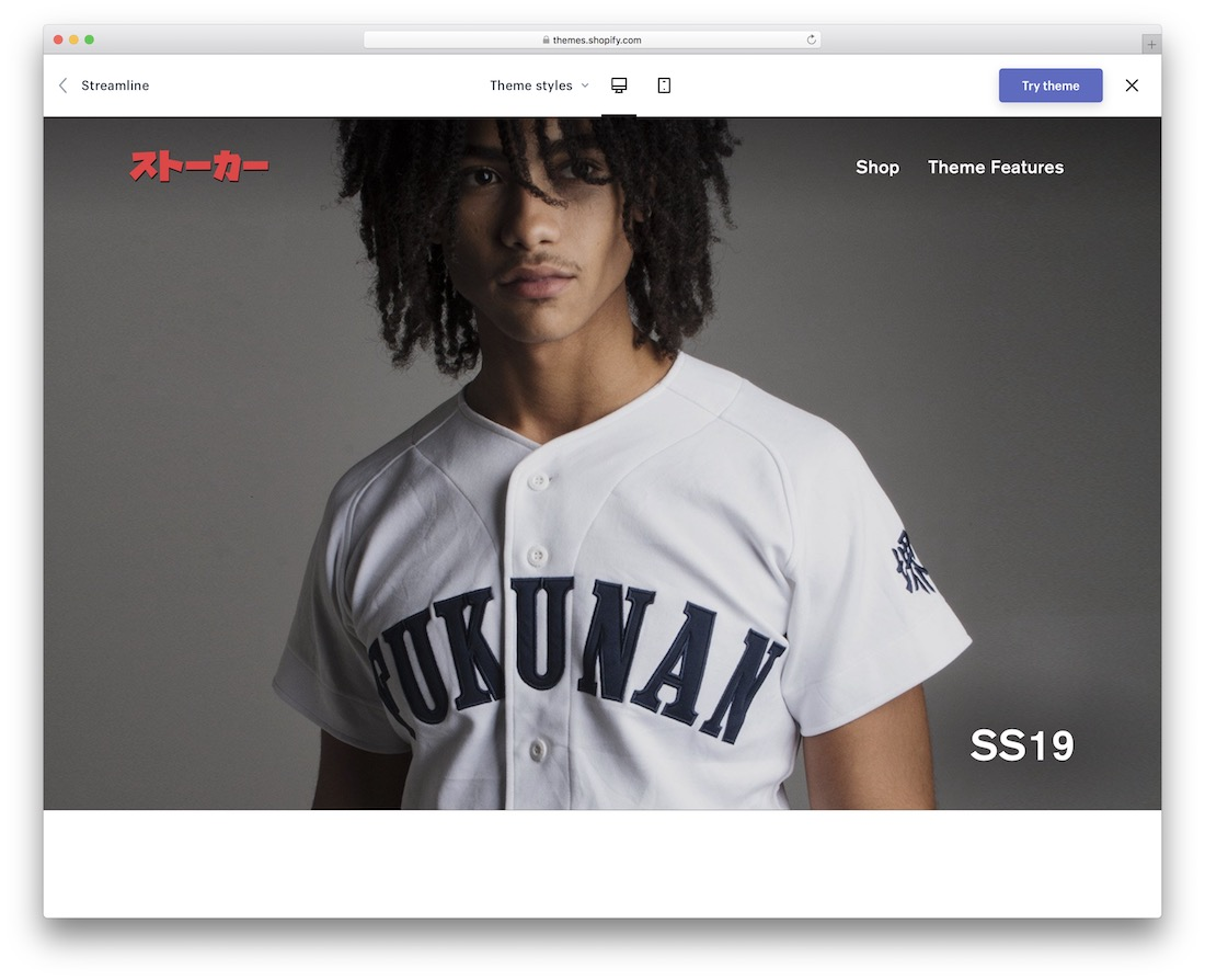 streamline shopify theme for t-shirts