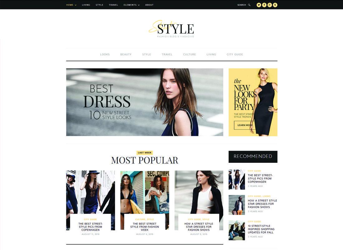 Street Style | Fashion & Lifestyle Personal Blog WordPress Theme