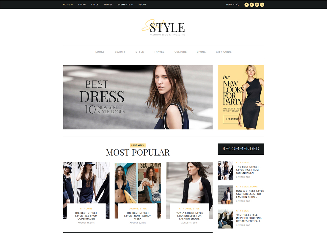 Street Style | Fashion & Lifestyle Personal Blog WordPress Theme