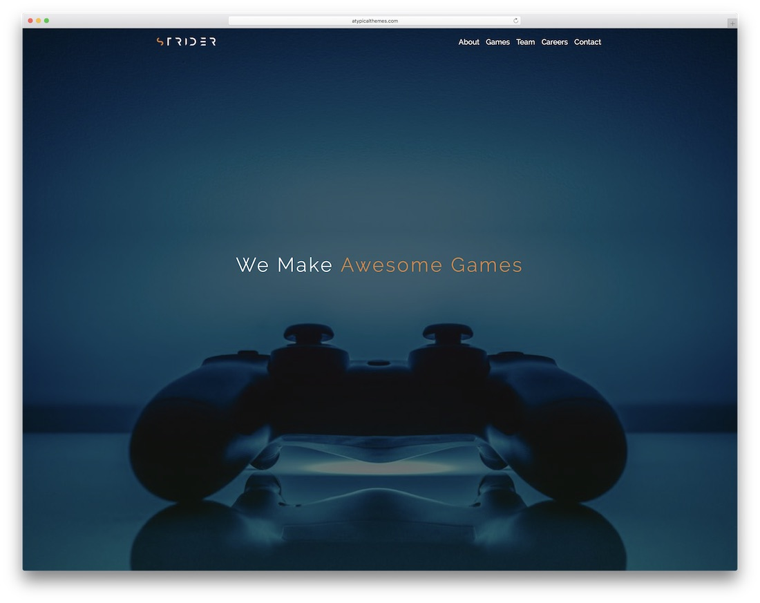 strider gaming html5 website template
