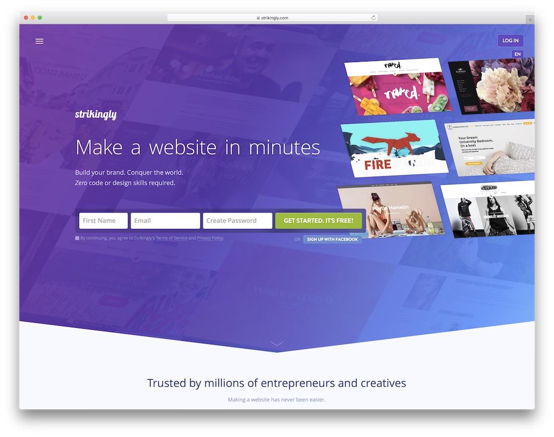 strikingly school and teacher website builder