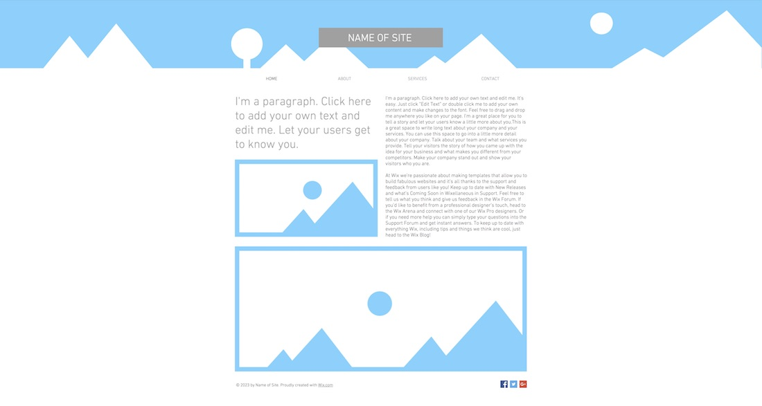 10 best free blank website templates for neat sites 2018 colorlib strip header blank website template pronofoot35fo Choice Image