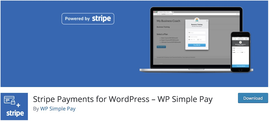 stripe checkout shopping cart plugin wordpress