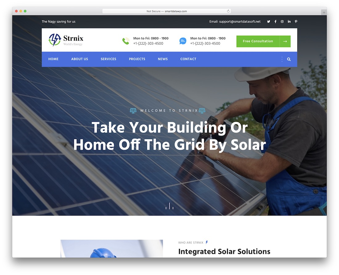 strnix alternative energy website template