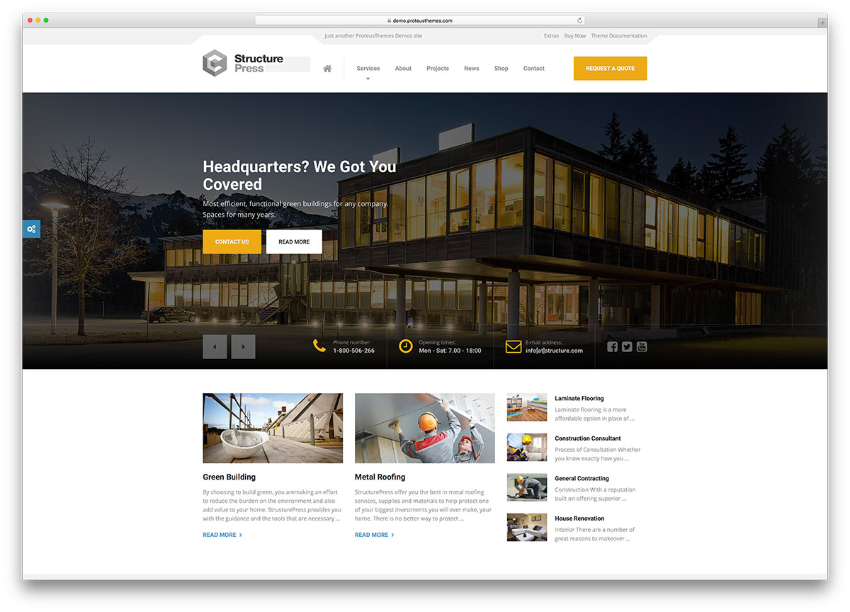 best construction company wordpress themes colorlib structurepress creative building company wordpress theme