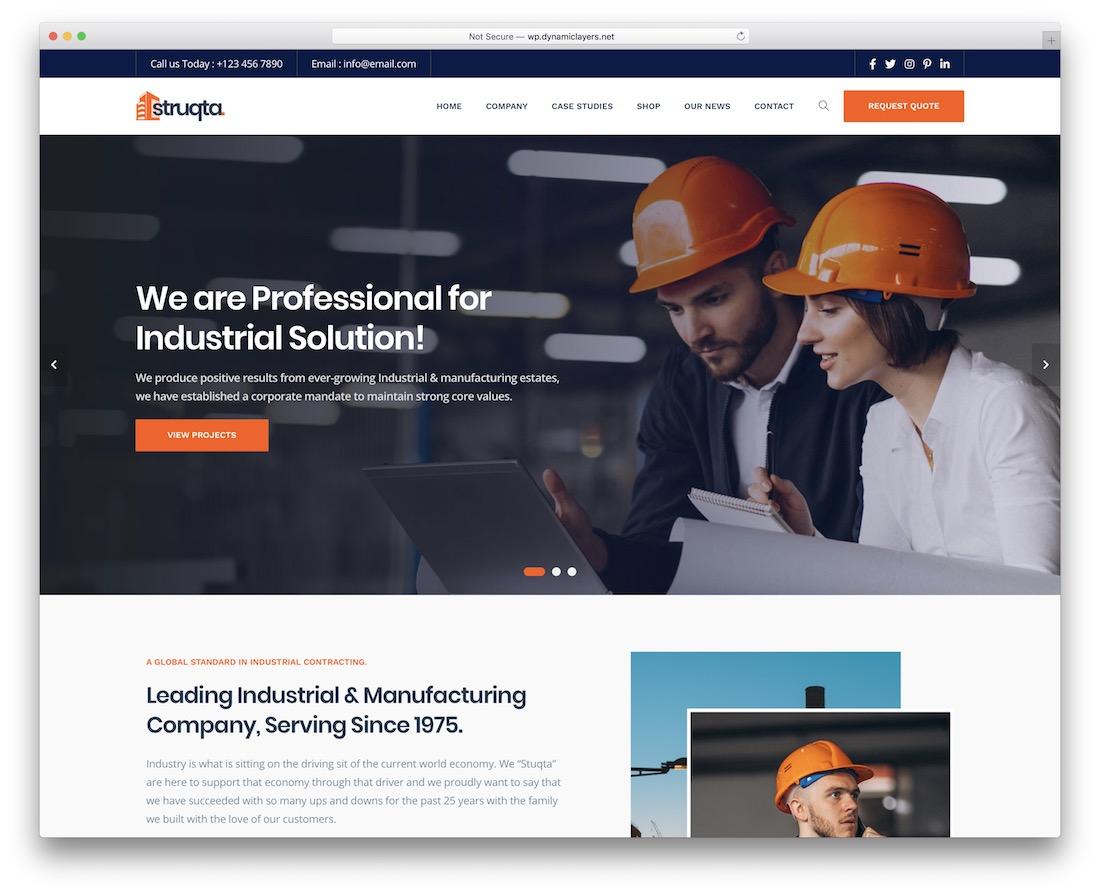 struqta construction company template