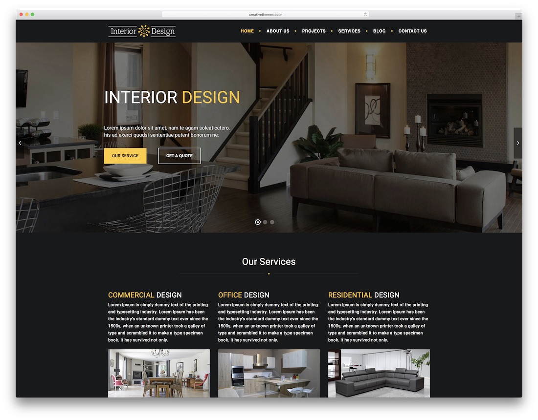 27 best responsive interior design website templates 2019 - Interior design discount websites ...