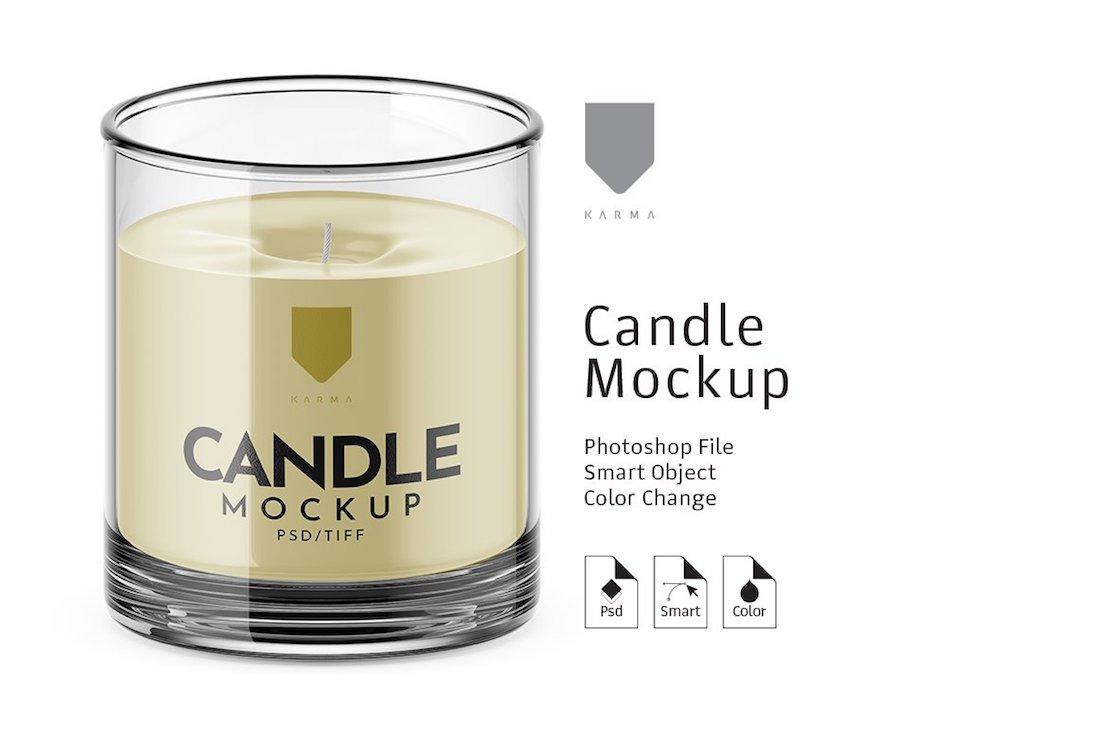 stunning candle mockup
