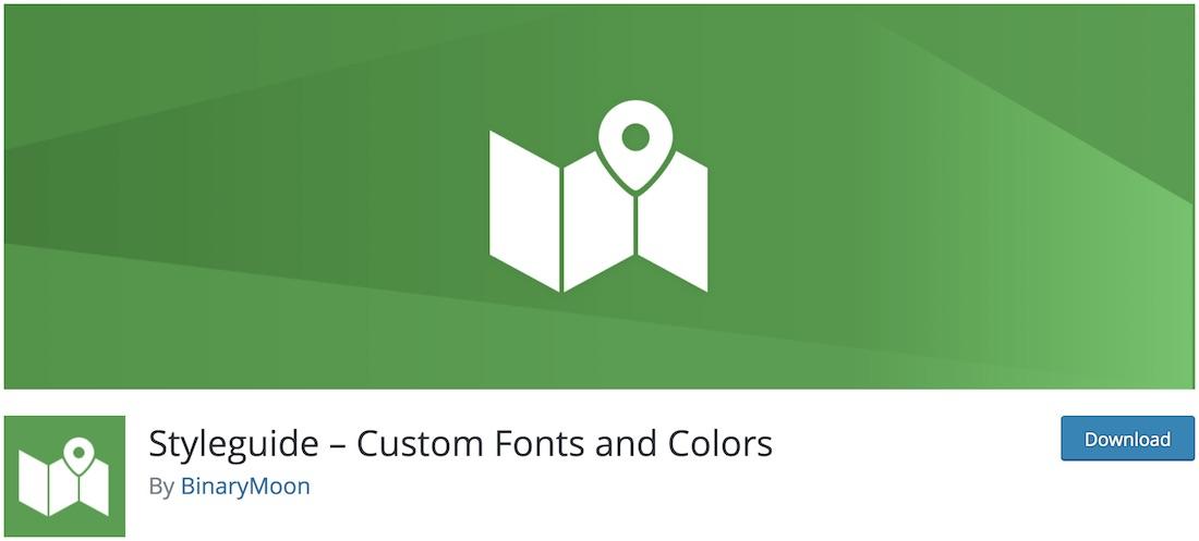 styleguide wordpress font plugin